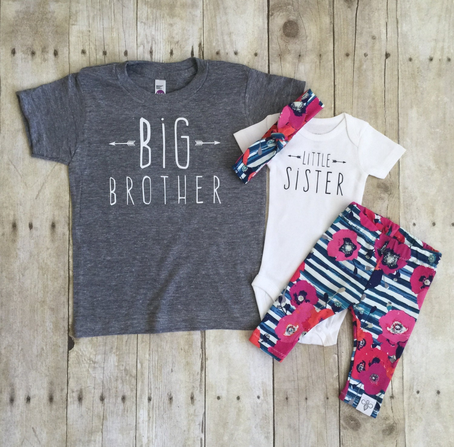 Big brother shirt and little sister set sibling shirts for Big sister birth announcement shirts