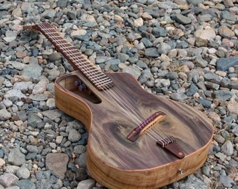 """Electro acoustic nylon guitar Handmade Luthier fanned fret """"Raulo"""""""