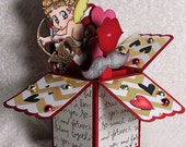 Unique OOAK Cupid Valentine Love Box Card Greeting Card Hearts XO