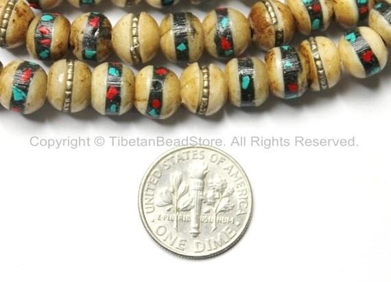 Basket Weaving Supplies Raleigh Nc : Beads mm tibetan antiqued bone with brass