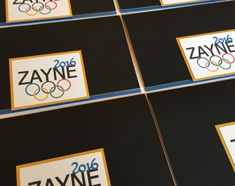 Olympic Themed Bar Mitzvah Invitation