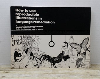 How to use Reproducible Illustrations in Language Remediation, 1983, Carolyn Ausberger, vintage book