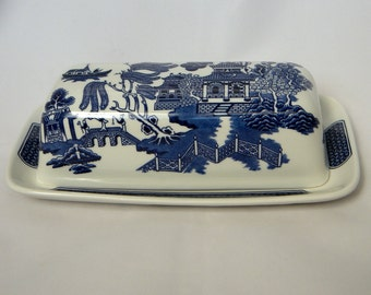 Churchill Blue Willow Covered Butter Dish Replacements