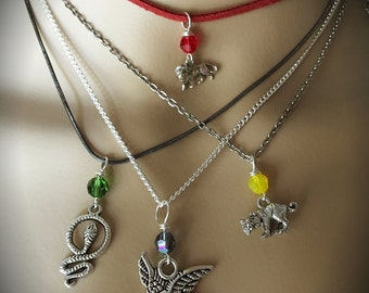 Harry Potter Hogwarts House Necklaces