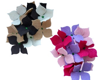 10% off with the code BDAY10  1940's inspired Felt Hydrangea Corsage