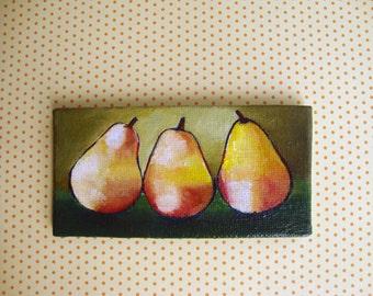 Vitamins/ MINIATURE acrylic painting/ 10x5 cm/ Tiny original artwork