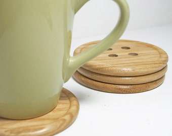 Button Coasters - set of 4