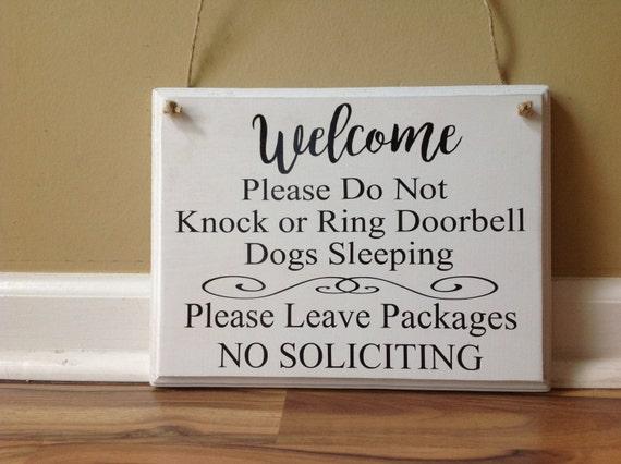 Welcome Please Do Not Knock Or Ring Doorbell Kids Sleeping