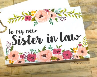 Sister in Law Thank You Card, Wedding Day To my New Sister Card, Sister in Law Thank You, Sister, Wedding Day Card - MULBERRY