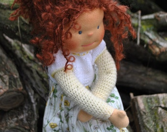 Handmade Waldorf inspired doll -girl
