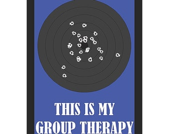 This Is My Group Therapy Sign Gun Rights 2nd Amendment Plastic Man Cave s195 Metal Aluminum Plastic