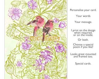 Greeting card, Handmade card, Birthday card, handmade card, blank card, greetings card, personalised card, congratulations card