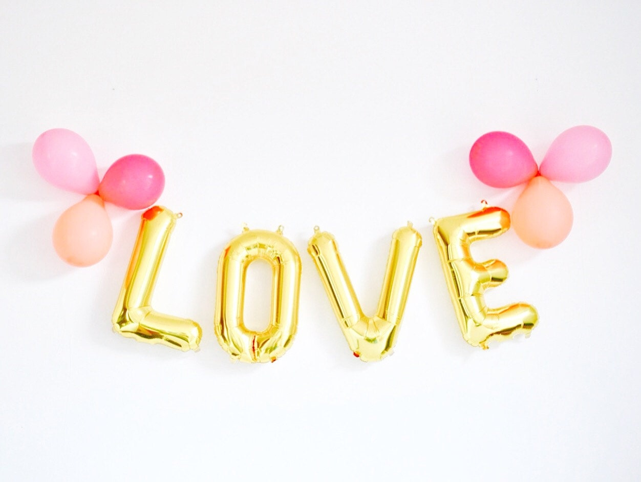 Love letter balloons 16 birthday party baby by supplyandco for I love you letter balloons