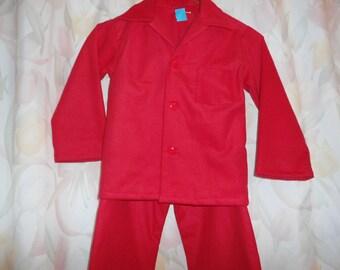 Boys Size 14 Red Pajama
