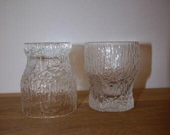 Iittala -ASLAK - Tapio Wirkkala -Tumbler / Selter/ Water Glass - RETRO - Finland