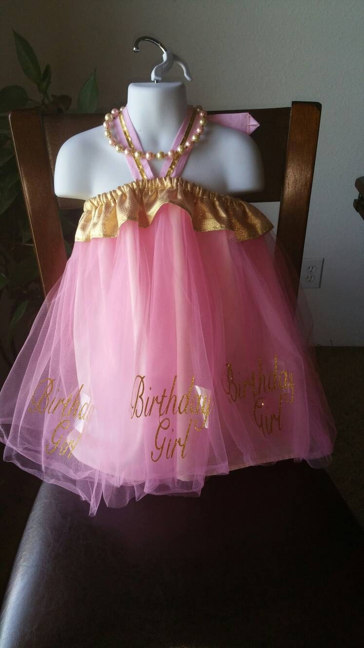Halter Top Pink Tulle Birthday Party Dress - 1st Birthday Dress ...