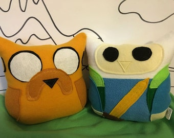 Finn and Jake Plush Owl Set of 2- Inspired by Adventure Time- Adventure Time owls Jake and Finn-set of 2 Plushies