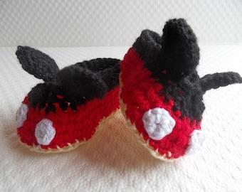 Mickey Baby Booties Crochet Pattern