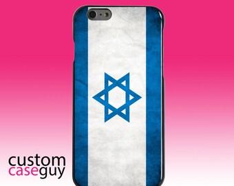 Hard Snap-On Case for Apple 5 5S SE 6 6S 7 Plus - CUSTOM Monogram - Any Colors - Israel Israeli Old Flag