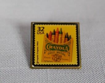 Vintage resin crayola pin