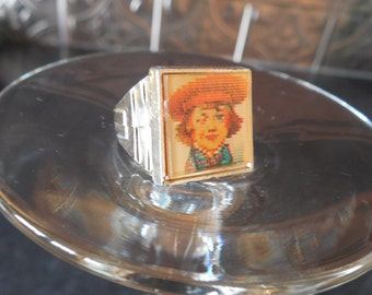 Vintage Buster Brown and Tige Flicker Ring...Advertising Promotional Purchasing Premium