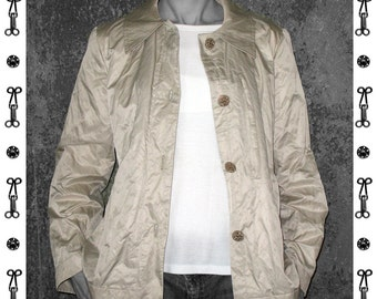 short JACKET in A-silhouette, A- Line, brown, handmade