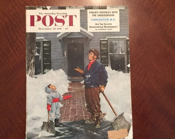 Saturday Evening Post, December 1951 Vintage Magazine