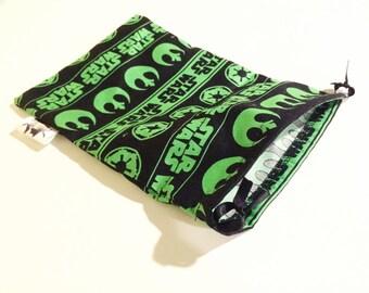 Star Wars green logo drawstring bag