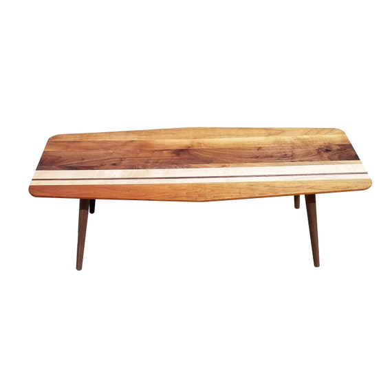 Surfboard Coffee Table Black Walnut With By EverythingModern