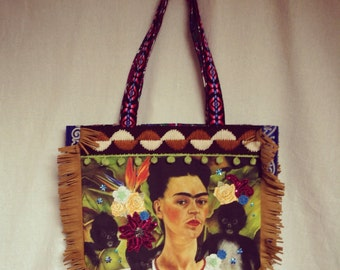 SALE!!! 20%OFF Frida Fringe bag with monkys