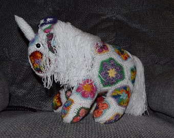 Adorable Crochet Unicorn, Custom Order,