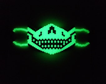 Glow pirate skeleton kandi rave mask