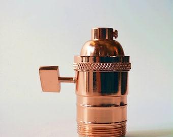 UNO Socket - Polished Copper - Light Socket