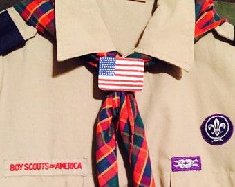 Scout American Flag Slide, Scout neckerchief slide, scout slide, cubscout slide