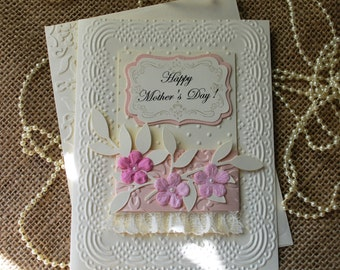 Handmade Greeting Card, Mother's Day card, Happy Mother's Day