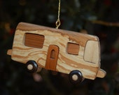 MOTORHOME CHRISTMAS Ornament.  Perfect for people who love traveling and enjoying their RV.  And appreciate  the outdoors and camping.