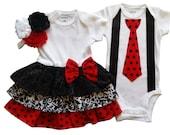 Brother Sister Matching Boy Girl Twins  Outfits  - Scarlett and Scott - Build a Set[RDTOSS]