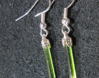 Green Tourmaline earrings - T12