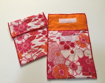Reusable Eco Mod Floral Print Snack Bag