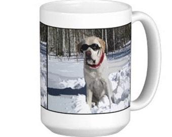Yellow Labrador Coffee Mug - Labrador Mug - Lab Cup - Labrador Gift - Yellow Lab Gift - Labrador Retriever - Labrador Coffee Cup