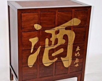 Hand Carved Antique Chinese Medicinal Tansu Storage Cabinet 16 Drawers Rare Insured safe Nation Wide Shipping Available