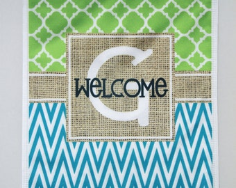 Beautiful Welcome Garden Flag Monogrammed Personalized Gifts For Grandparents Garden  Gift Monogram Gifts For Mom Custom Housewarming