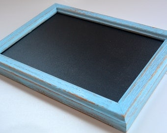 Light Blue Distressed Framed Chalkboard, Chalk Board, Hand Painted Chalkboard, Office Decor, Home Decor, Decorations, Gift, Kids Room