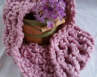 Pink Cowl Scarf
