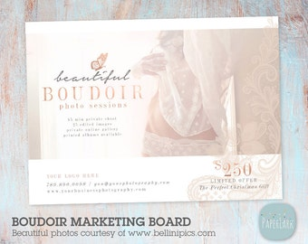 Boudoir Photography Marketing Board -  Mini Sessions - Photoshop template - IL005 - INSTANT DOWNLOAD
