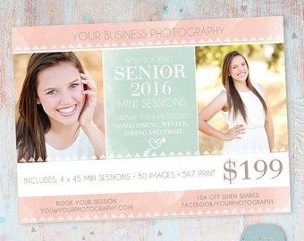 SALE NOW ON Senior Photography Marketing - Photoshop template - Is006- Instant Download