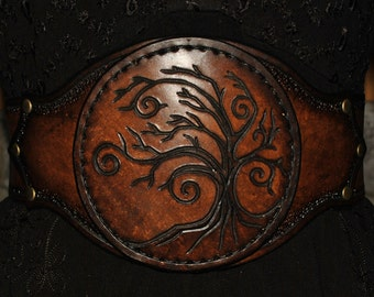 leather cincher belt