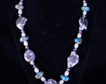 Pearls, Turquoise, and silver 037