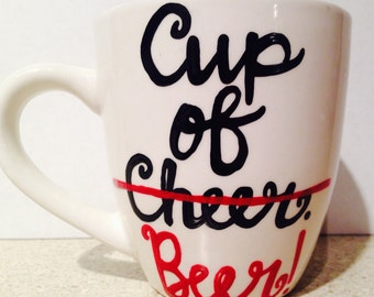 Cup of cheer / beer  | christmas coffee cup | white elephant gift | scrooge | have a cup of cheer | funny christmas gift for scrooge