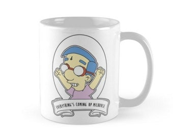 Everythings Coming Up Milhouse.  Alternative Pop Art Simpsons Goth Cup Mug by zombieCraig